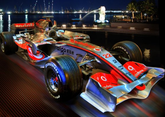 Travel Postcard - Singapore F1 - McLaren ready to go
