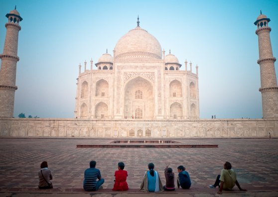 Travel Postcard - Taj Mahal