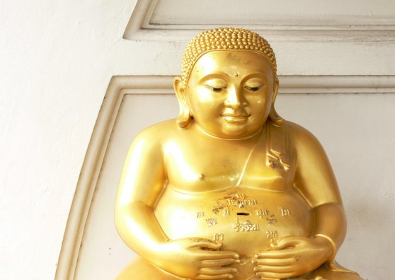 Travel Postcard - Statue of Buddha in Yannawa temple, Bangkok
