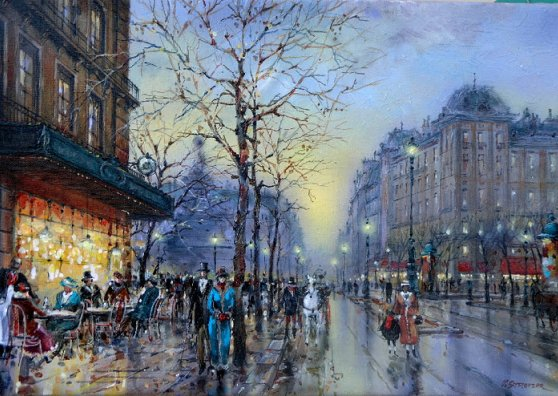 Travel Postcard - Rainy Day in Paris