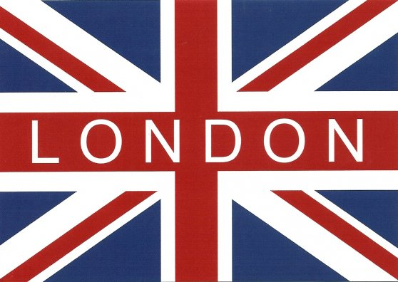 Travel Postcard - London and the Flag