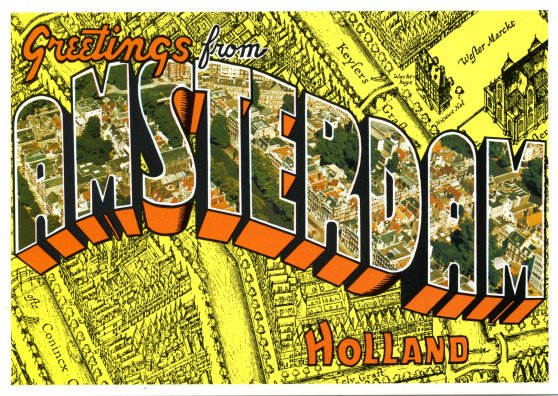 Travel Postcard - Amsterdam Holland Netherlands