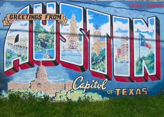 Travel Postcard - Greetings from Austin - Capitol of Texas