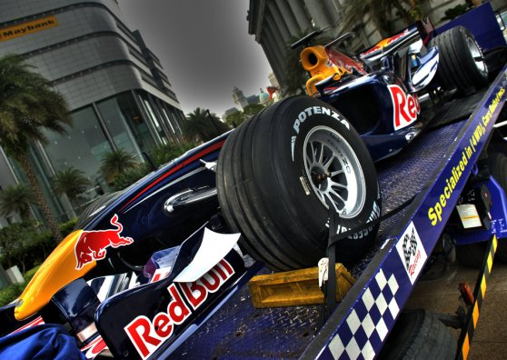 Travel Postcard - Singapore F1 - Red Bull in Singapore