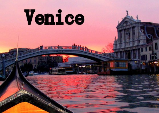 Travel Postcard - Venice