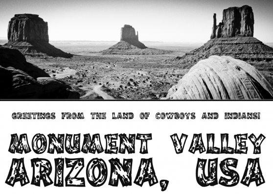 Travel Postcard - Monument Valley