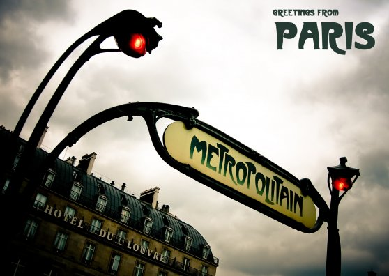 Travel Postcard - Paris Transport