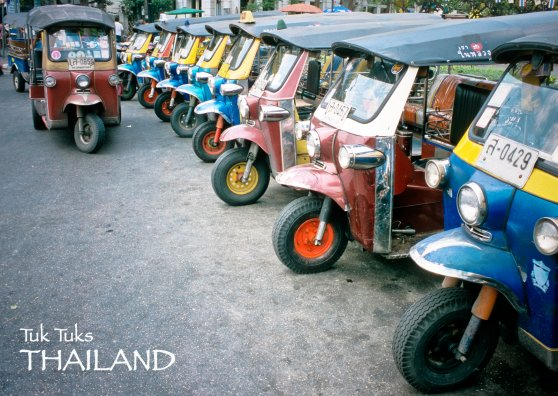Travel Postcard - Bangkok Tuk Tuks