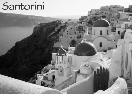 Travel Postcard - Santorini