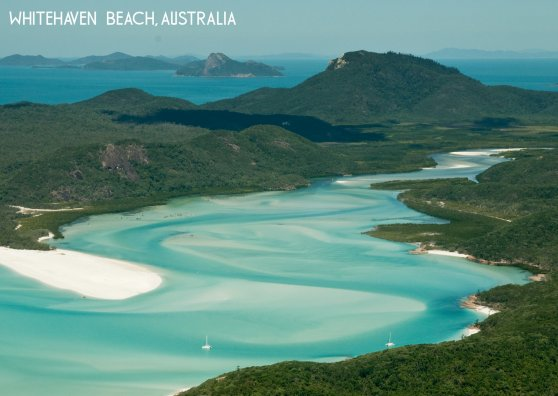 Travel Postcard - Whitehaven Beach