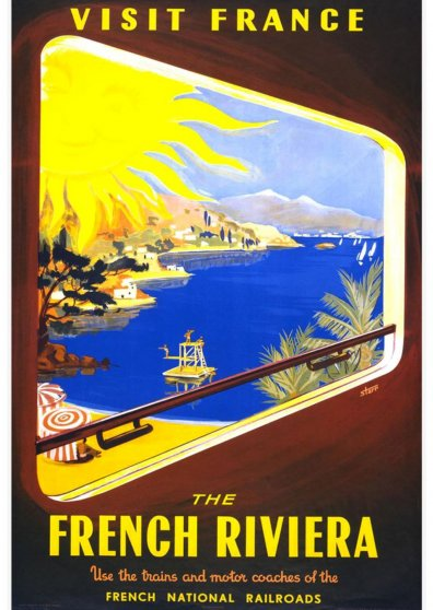 Travel Postcard - French Riviera