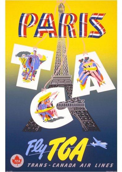 Travel Postcard - Paris