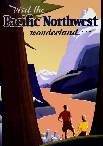Travel Postcard - Pacific Northwest