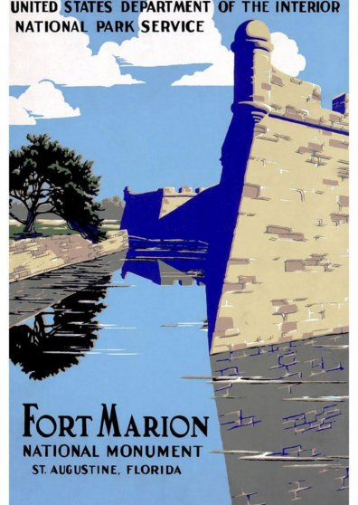 Travel Postcard - Fort Marion