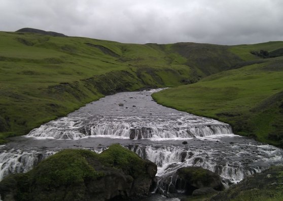 Travel Postcard - River on iceland