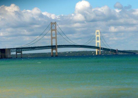 Travel Postcard - Mackinac Bridge
