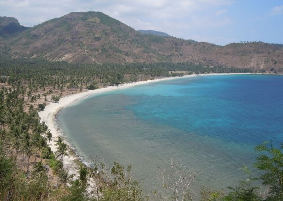 Travel Postcard - North Lombok Beach