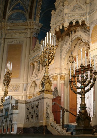 Travel Postcard - Menorahs