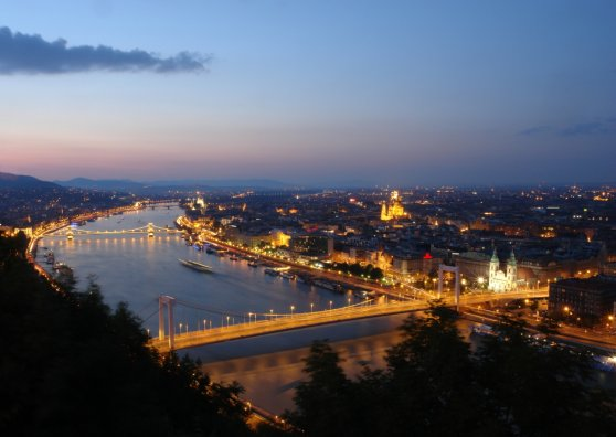 Travel Postcard - Budapest by night