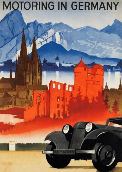 Travel Postcard - Motoring in Germany