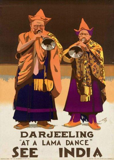 Travel Postcard - India - Darjeeling - at a lama dance