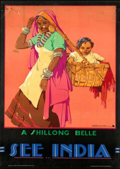 Travel Postcard - India - A Shillong Belle