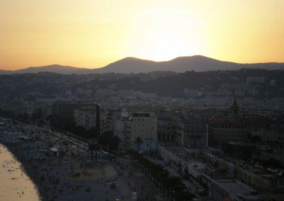 Travel Postcard - Nice at sunset_2