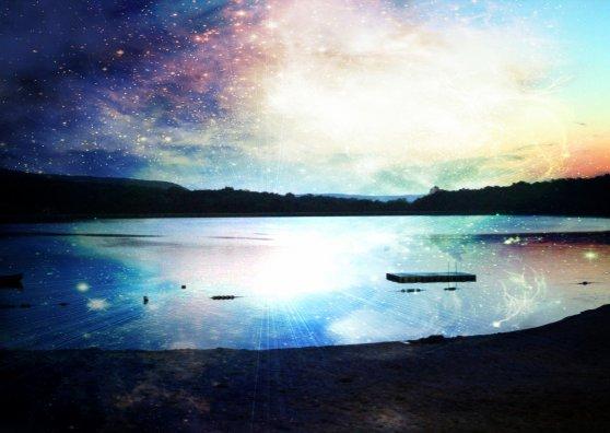 Travel Postcard - Galaxy Lake