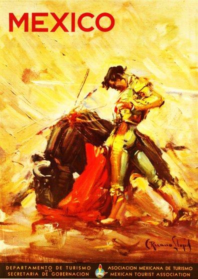 Travel Postcard - Mexico - Bullfighter - Torero
