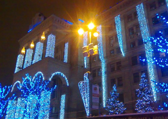 Travel Postcard - Christmas Kiev