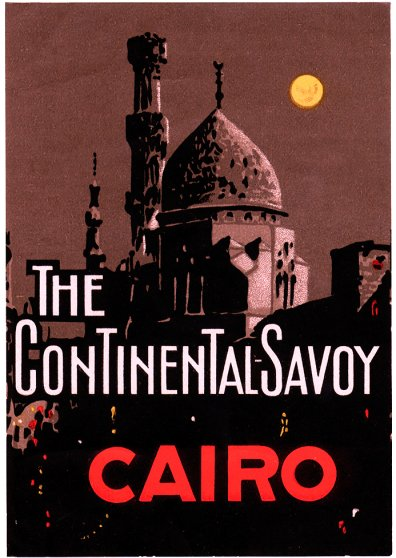 Travel Postcard - The Continental Savoy - Cairo, Egypt