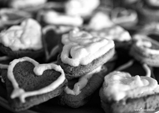 Travel Postcard - Heart Cookies