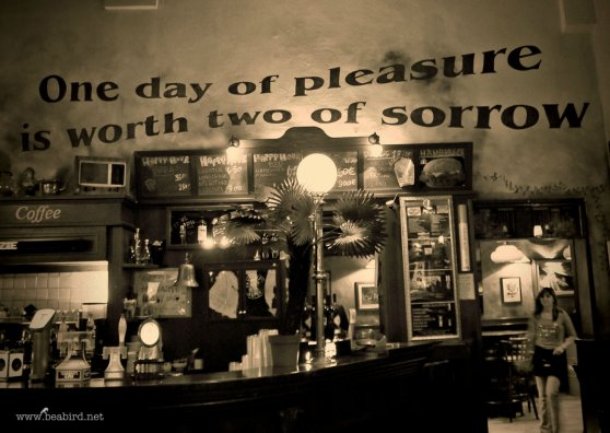 Travel Postcard - One day of pleasure is worth two of sorrow