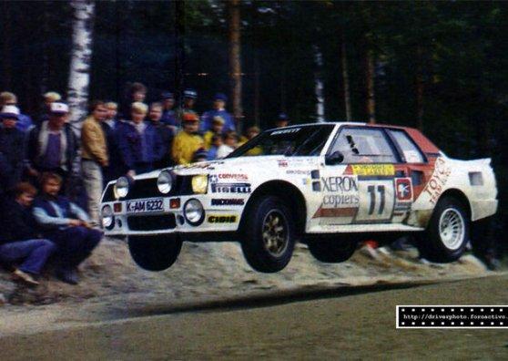 Travel Postcard - Toyota WRC - Juha Kankkunen