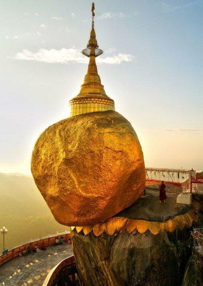 Travel Postcard - Kyaik-Tiyo Pagoda - Burma Myanmar