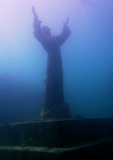 Travel Postcard - Christ of the Deep - Key Largo