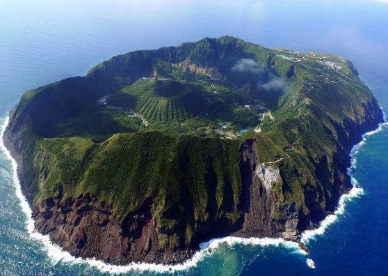 Travel Postcard - Japan - Aogashima Island 青ヶ島