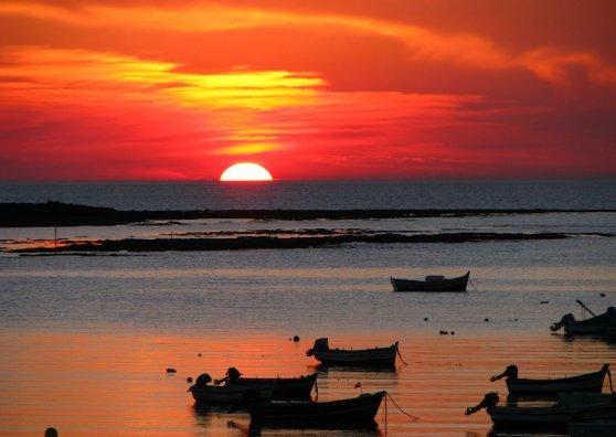 Travel Postcard - Sunset in Cadiz - Spain