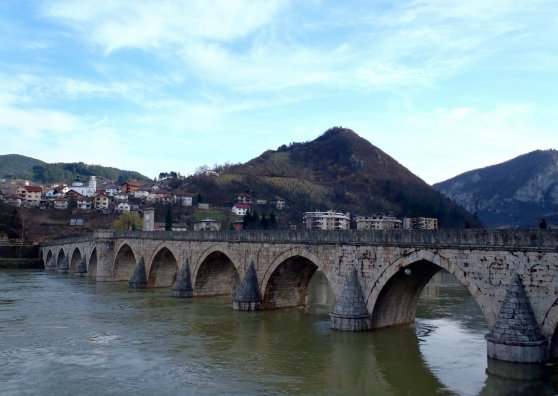 Travel Postcard - Bridge over Drina
