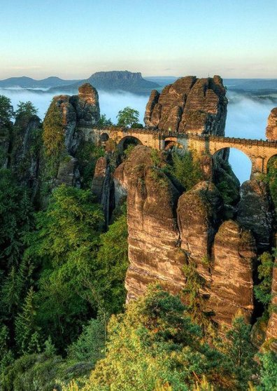 Travel Postcard - The Bastei Bridge - Germany