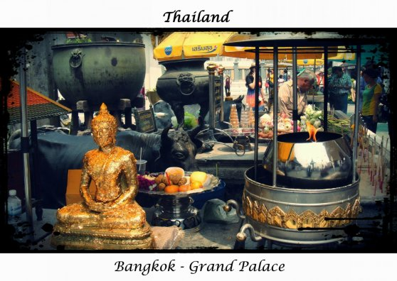 Travel Postcard - Grand Palace, Bangkok