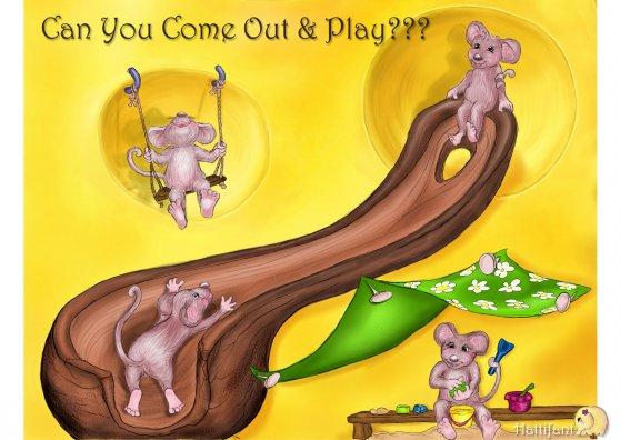 Travel Postcard - Hattifant's Play Invite