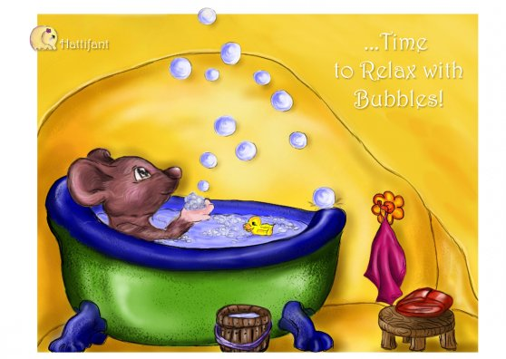 Travel Postcard - Hattifant's Bubble Bath - Time To Relax