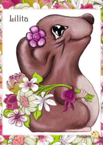 Travel Postcard - Hattifant's Lilita, the mouse girl