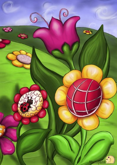 Travel Postcard - Hattifant's Turtle & Ladybird - Part B
