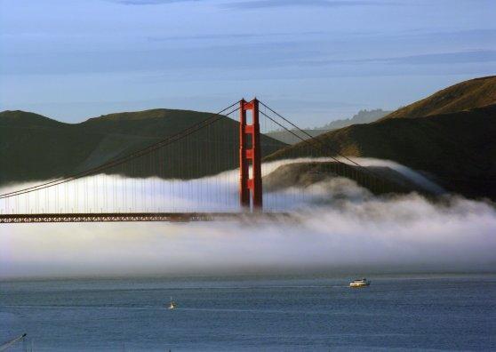 Travel Postcard - Rolling Fog
