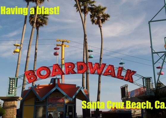 Travel Postcard - Santa Cruz Beach Boardwalk