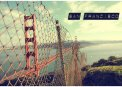 Travel Postcard - San Francisco Golden Gate Bridge Fence