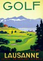 Travel Postcard - Golf in Lausanne - Switzerland
