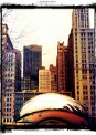 Travel Postcard - Chicago Bean